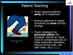patient teaching