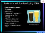 patients at risk for developing cipn2