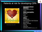 patients at risk for developing cipn3