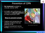 prevention of cipn