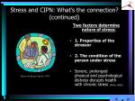 stress and cipn what s the connection continued1