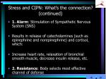 stress and cipn what s the connection continued3