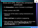 stress and cipn what s the connection continued4