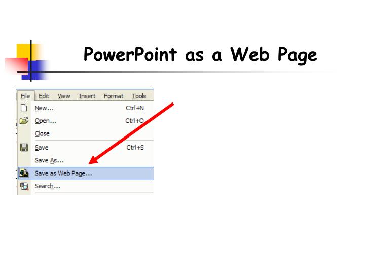 PowerPoint as a Web Page