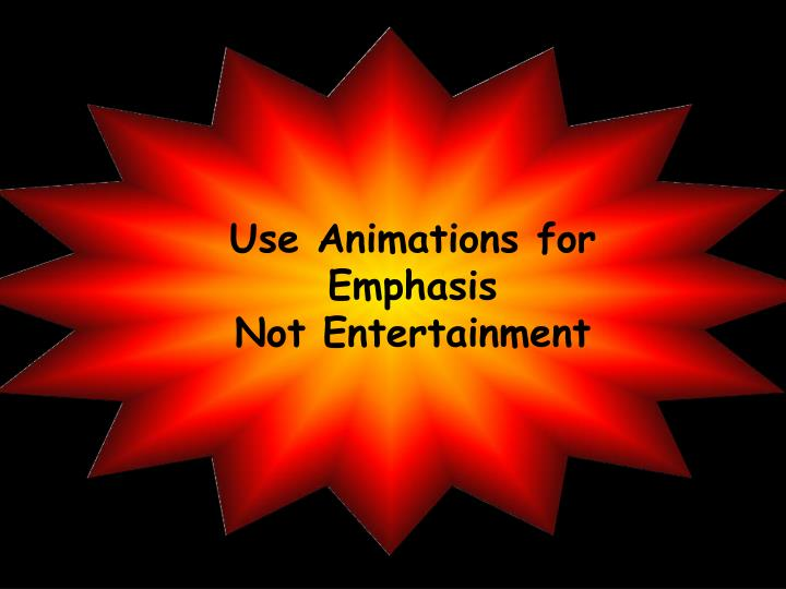 Use Animations for Emphasis