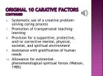 original 10 carative factors continued
