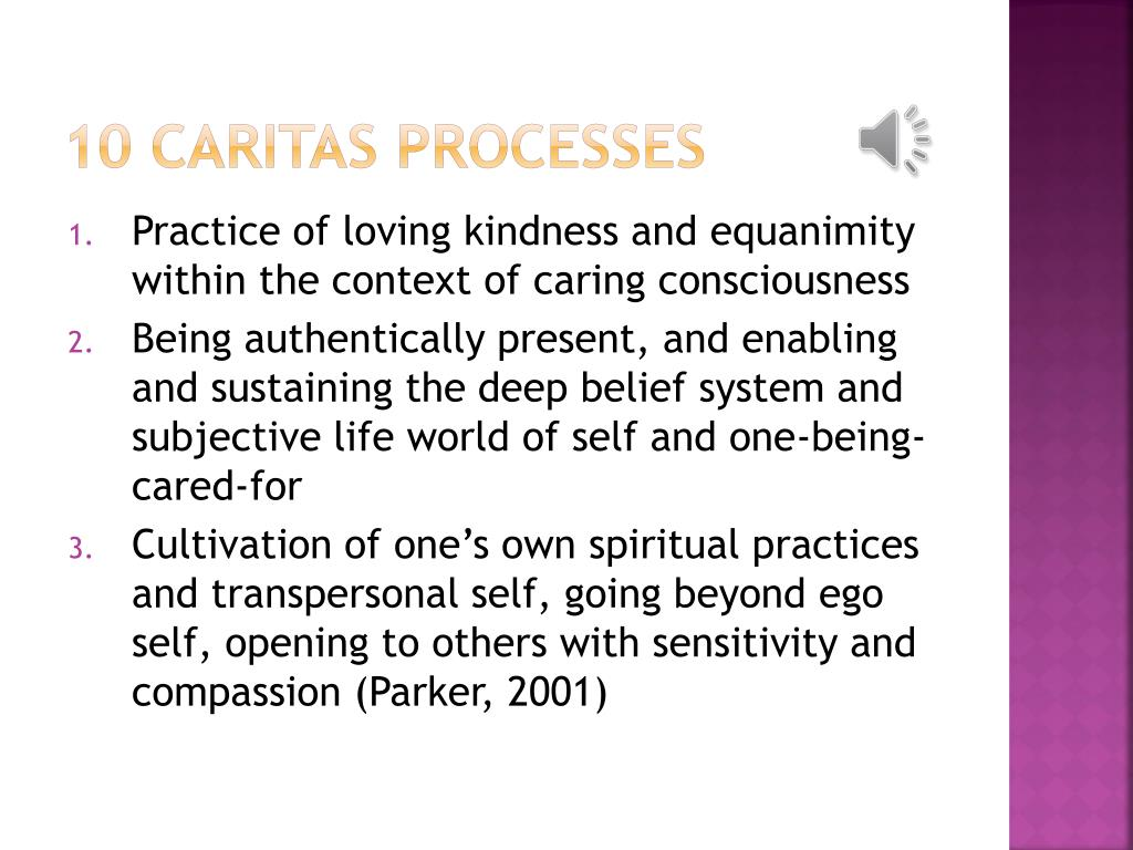 10 Caritas Processes