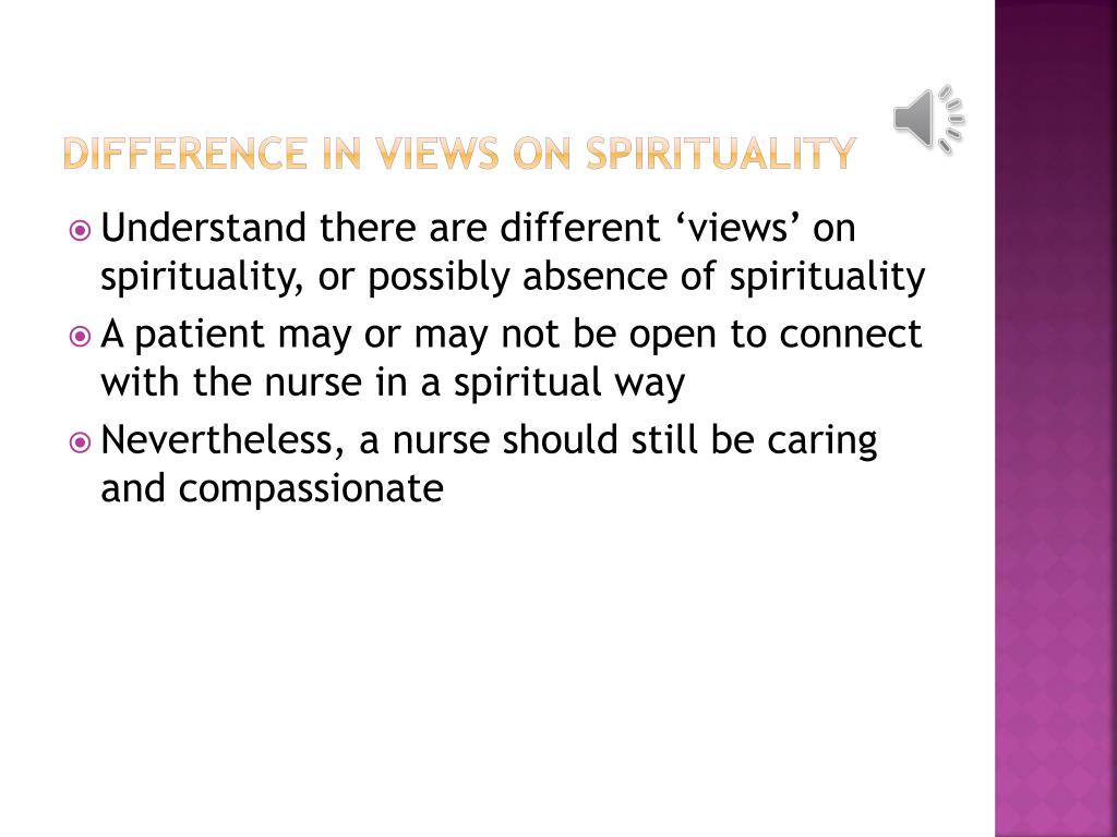 Difference in views on spirituality