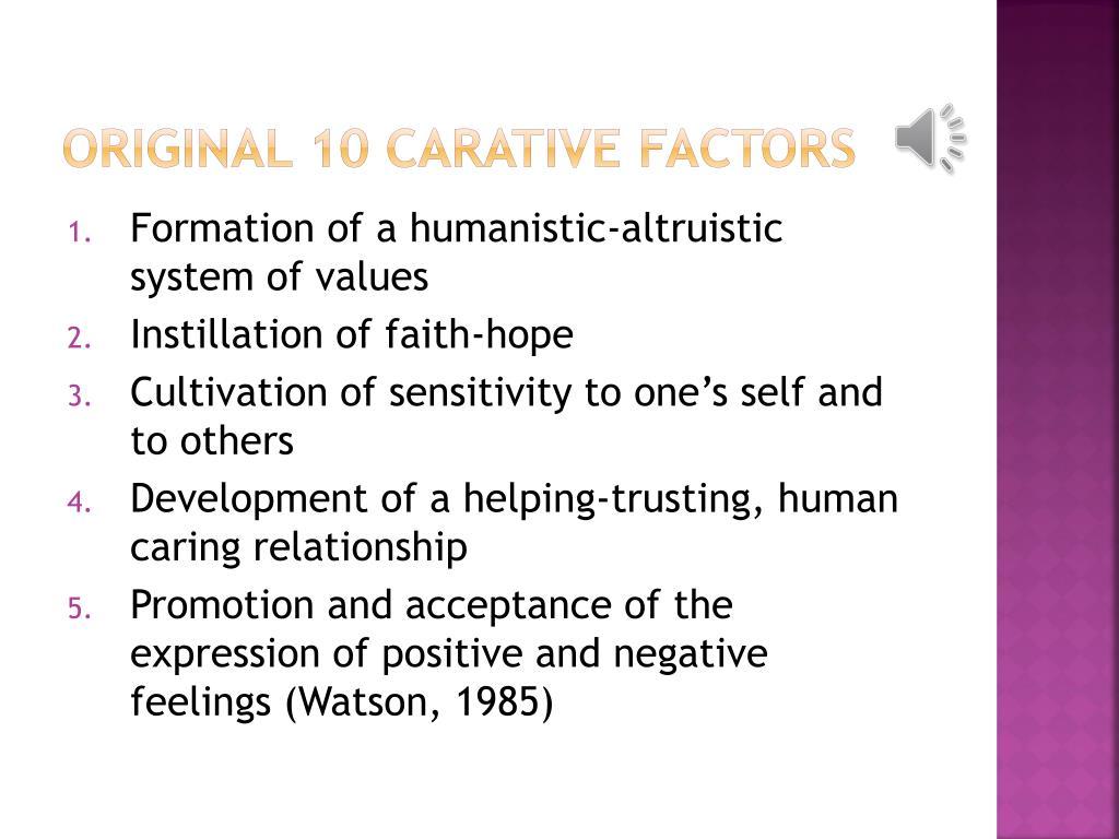 Original 10 Carative Factors