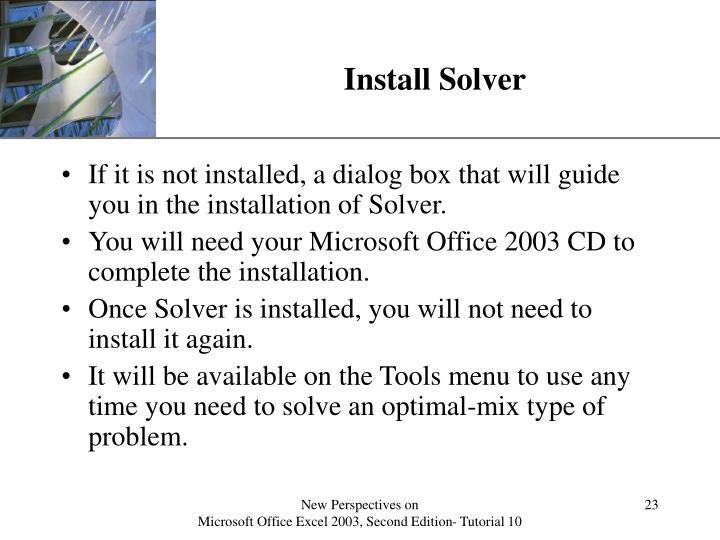 Install Solver