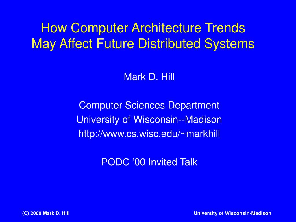 How Computer Architecture Trends