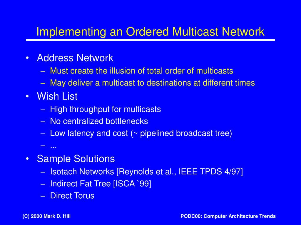 Implementing an Ordered Multicast Network