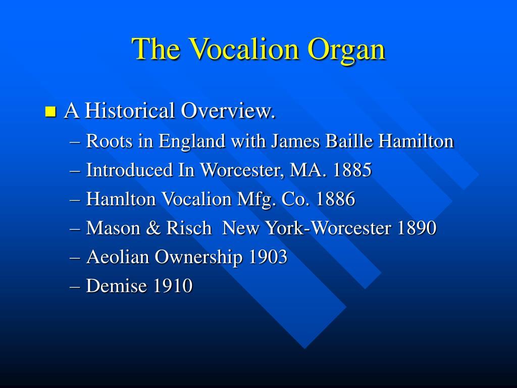 the vocalion organ l.
