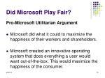 did microsoft play fair2