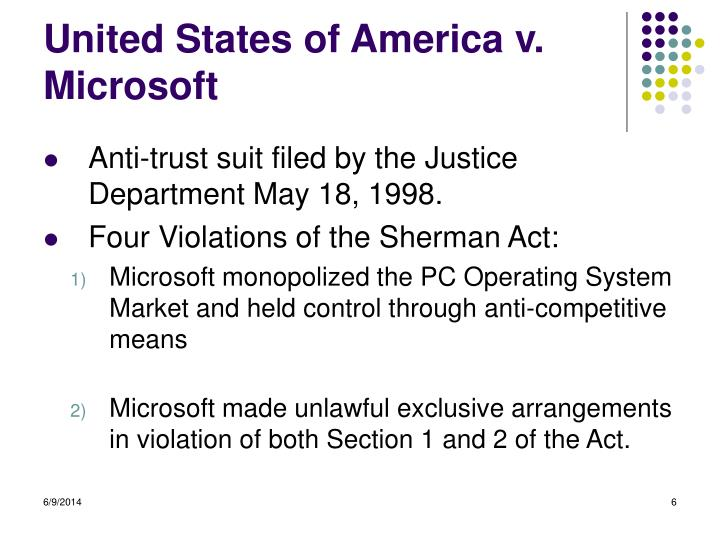 United States of America v. Microsoft