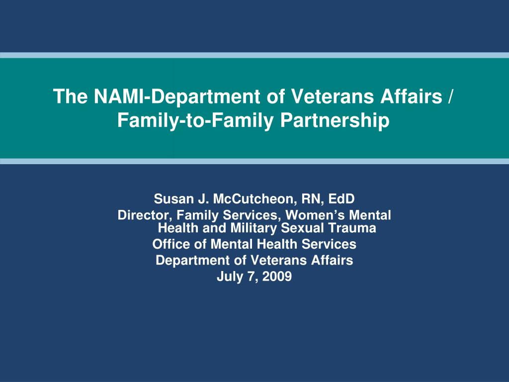 the nami department of veterans affairs family to family partnership l.