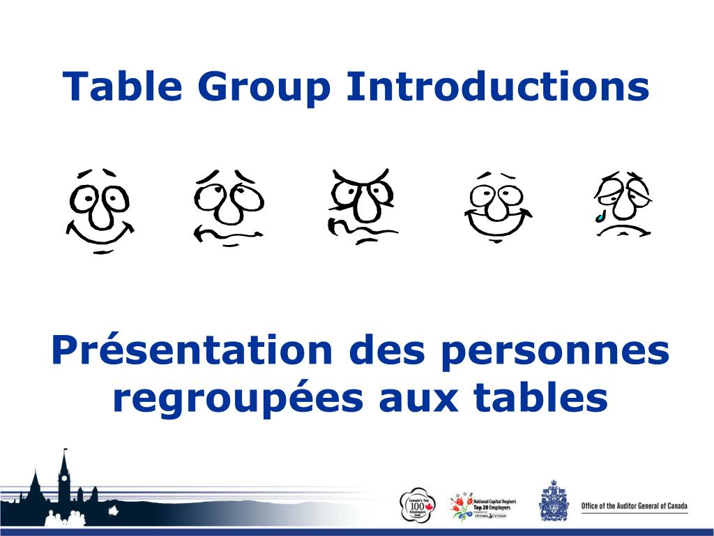 Table Group Introductions
