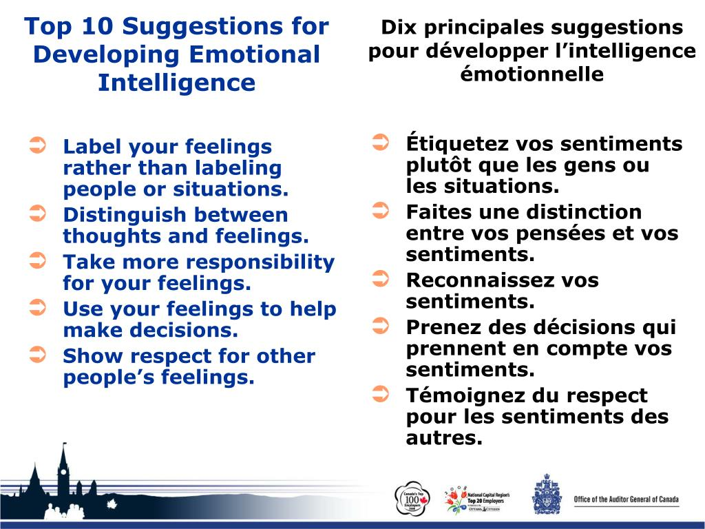 Top 10 Suggestions for Developing Emotional Intelligence