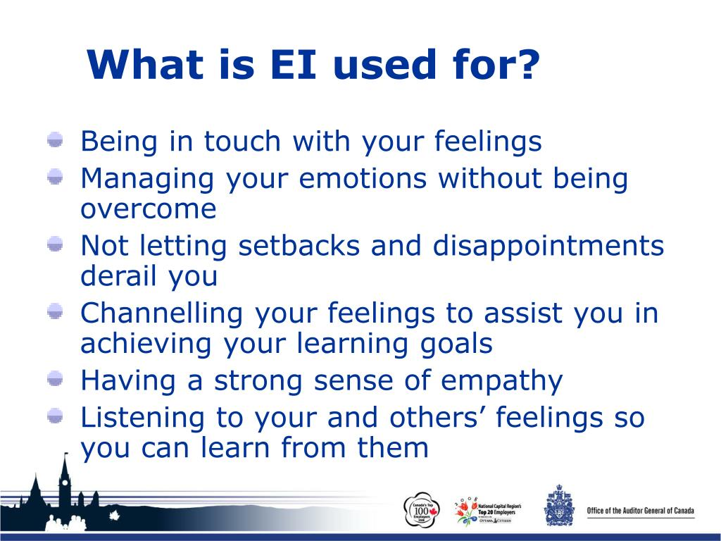 What is EI used for?