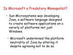 is microsoft a predatory monopolist3