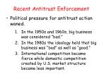 recent antitrust enforcement2