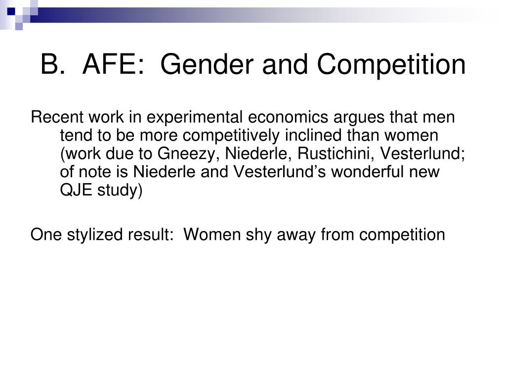 b afe gender and competition l.