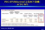 peg i fn ribavirin hcv actg 507171