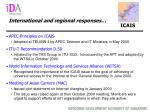international and regional responses icais