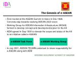 the genesis of e asean