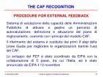 procedure for external feedback