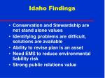 idaho findings