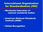 international organization for standardization iso