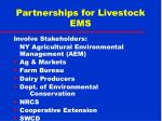 partnerships for livestock ems34