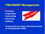 pro dairy management