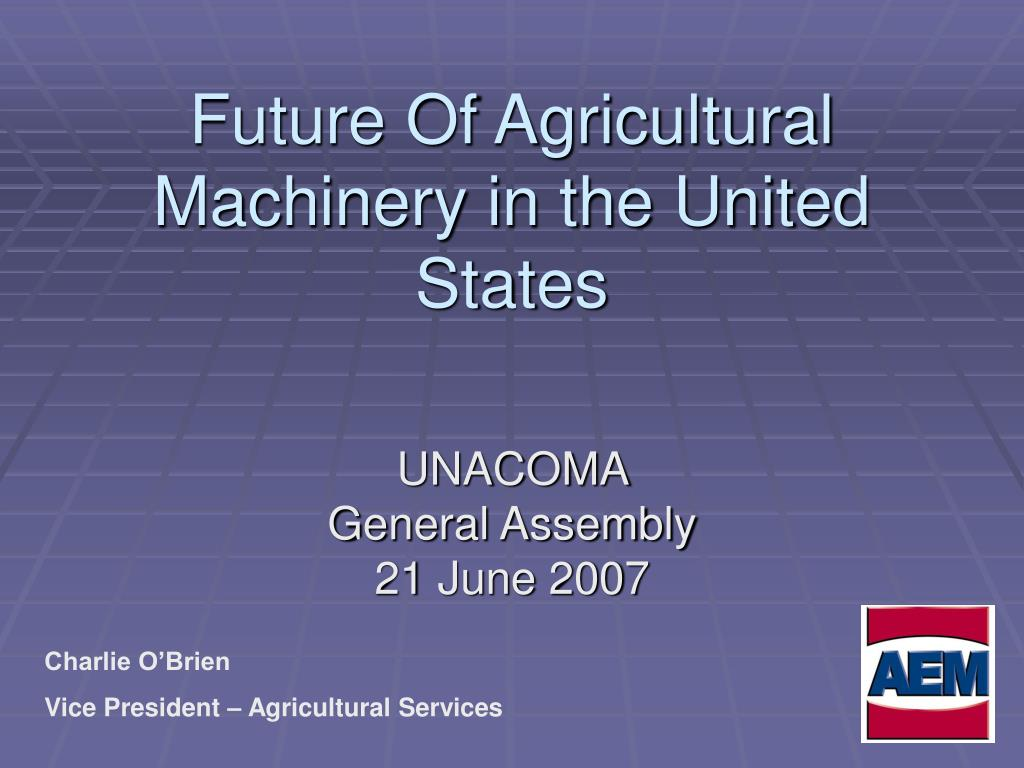 future of agricultural machinery in the united states l.