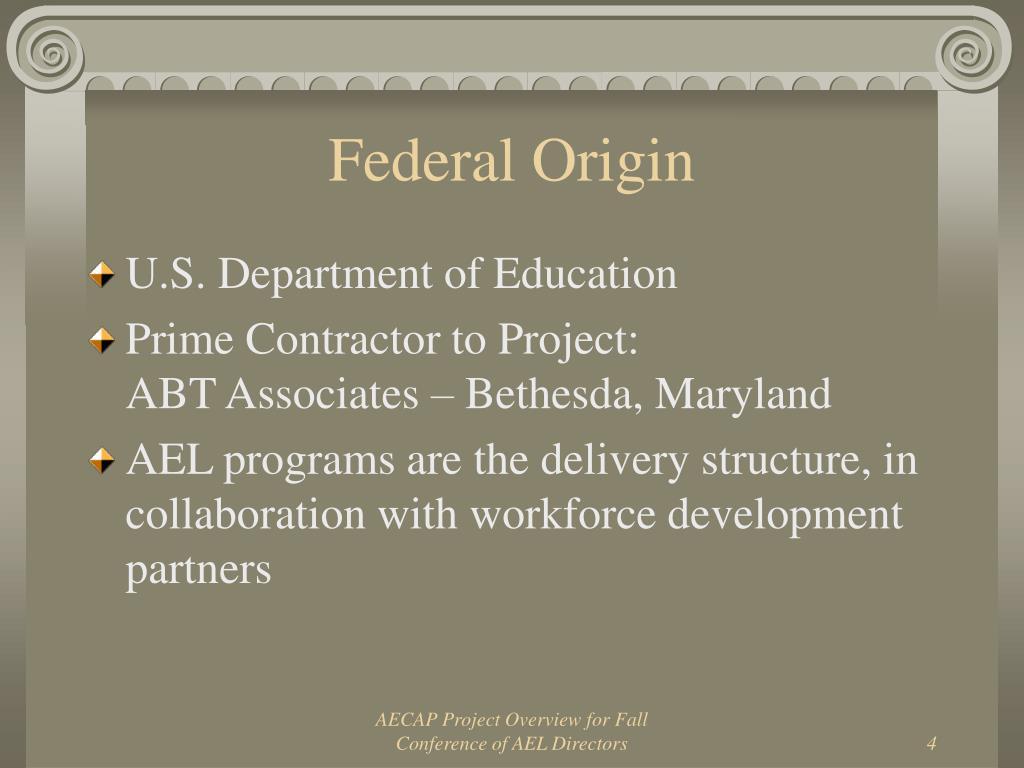 Federal Origin