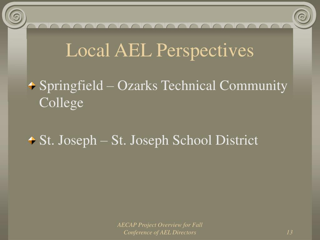 Local AEL Perspectives
