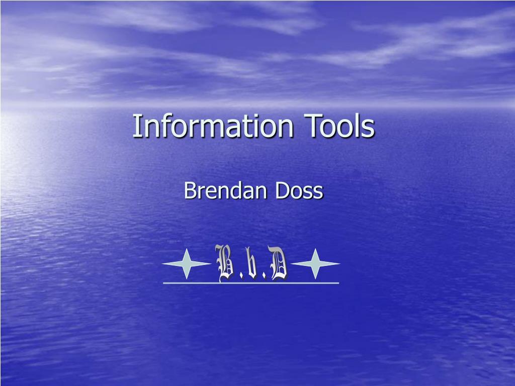 information tools l.