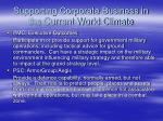 supporting corporate business in the current world climate1