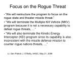 focus on the rogue threat