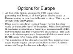 options for europe