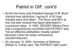 patriot in oif cont d