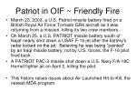 patriot in oif friendly fire