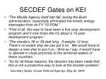 secdef gates on kei
