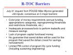 r toc barriers