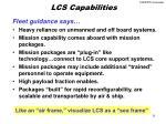 lcs capabilities