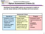 sea based terminal bmd assessment option assessment criteria u