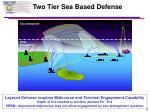 two tier sea based defense