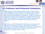 11 proficiency and professional competency