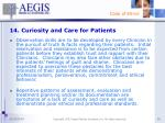 14 curiosity and care for patients